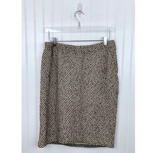 St. John Collection • Tan Tweed Skirt • 14 [P6]
